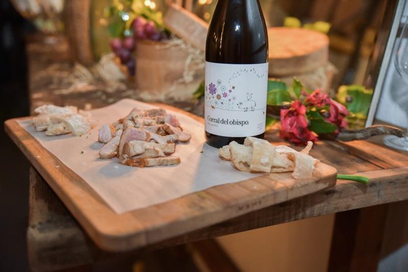 Maridaje for Jardin secreto wine