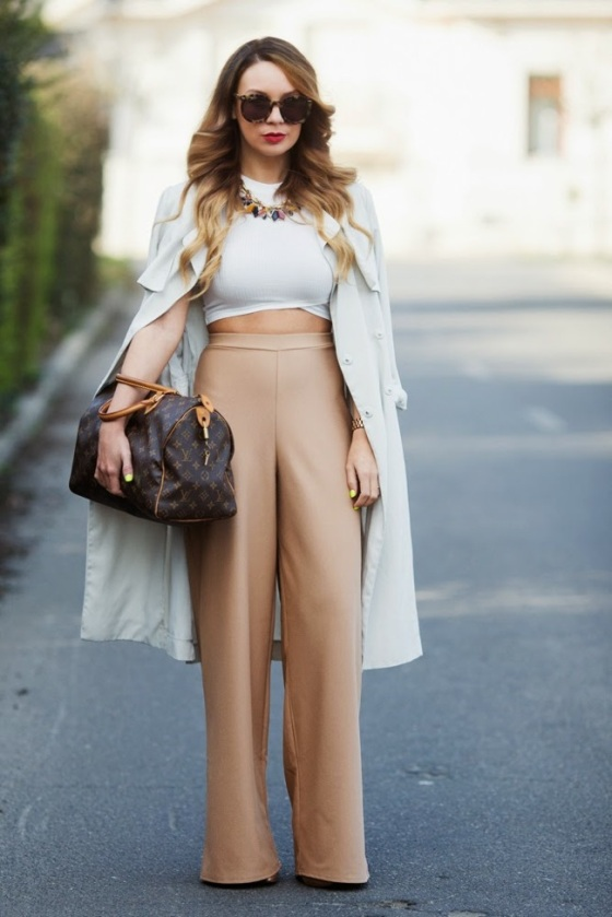 Palazzo and crop top