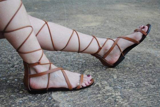 Sandalias atadas de Mango