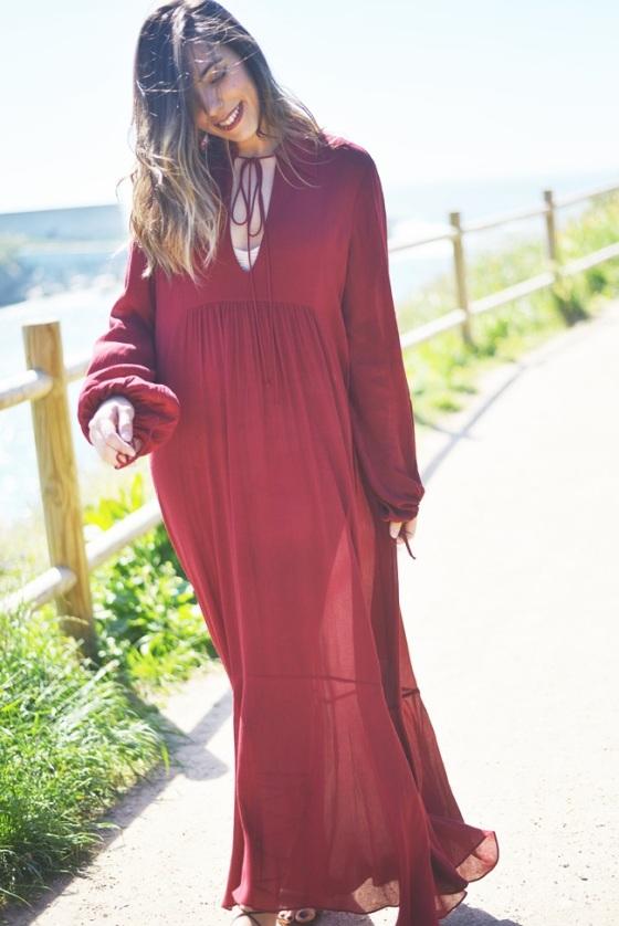Boho dress look