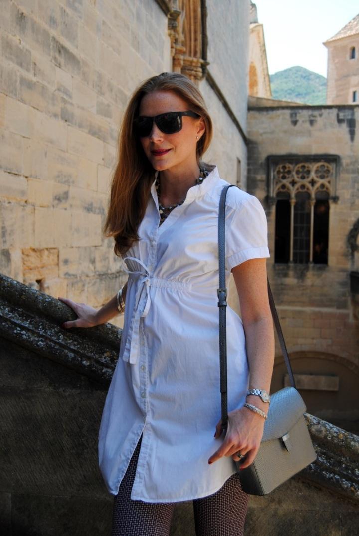 Camisa Blanco y bolso Ecco