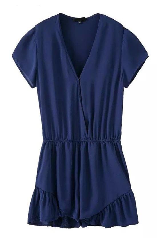 Dressin blue chiffon jumpsuit