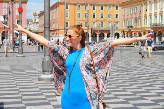 Kimono look in Nice