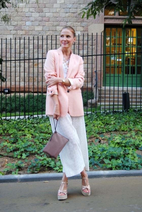 Palazzo pants and blazer