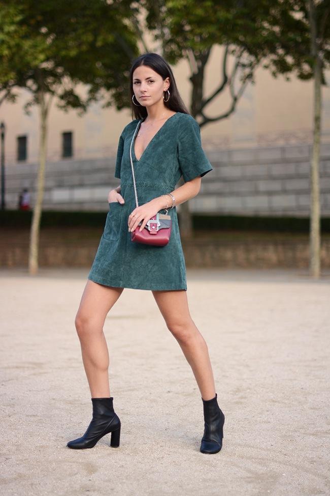Vestido de ante verde
