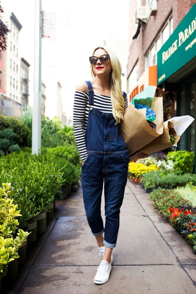 Dungarees and stripes