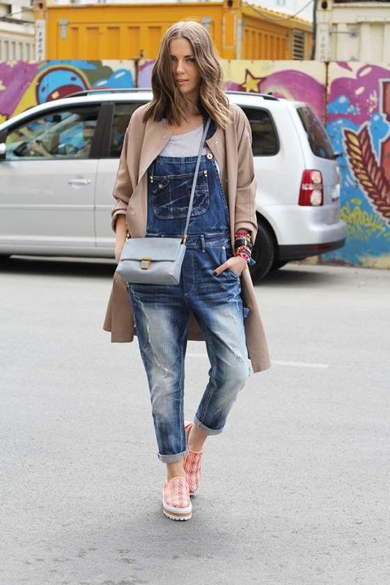 Dungarees look