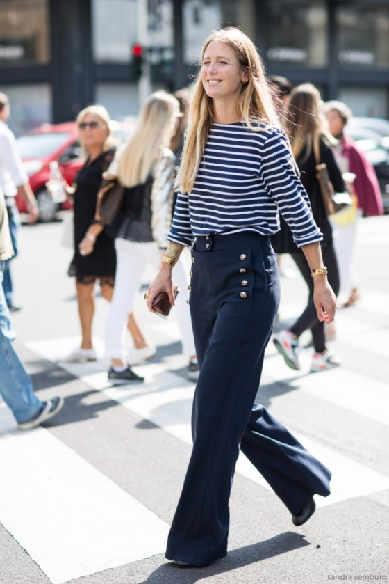 Sailor look with flare pants