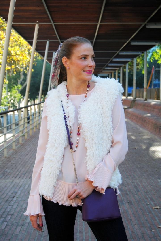 Venca vest and blouse