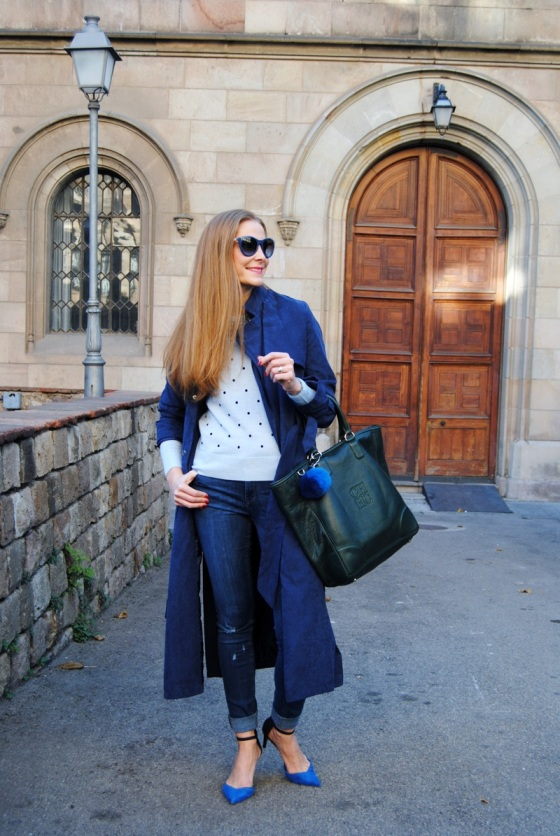 SheIn blue trench