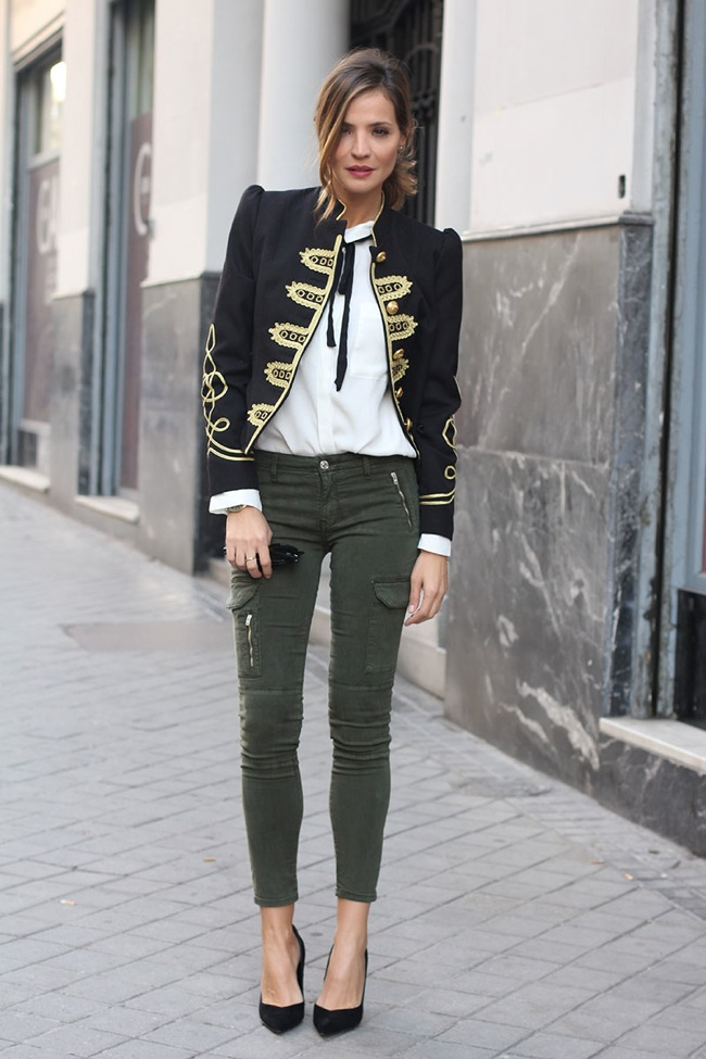 Blazer estilo militar La Condesa
