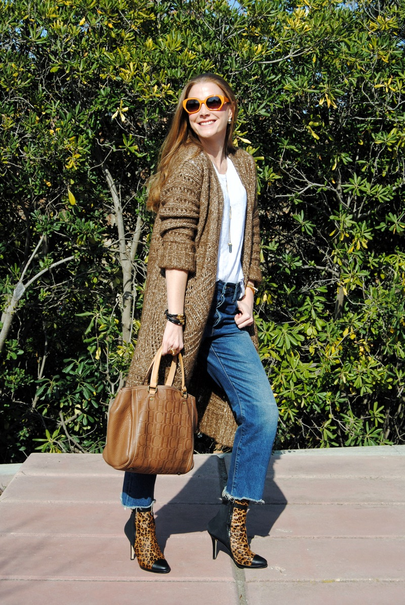 Look with long cardigan