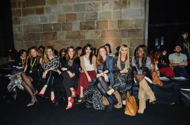Front row at Escorpion Fashion show