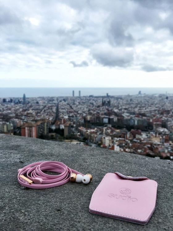 Pink Vasa earphones