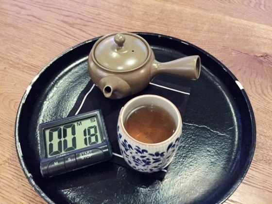 green tea at Arrte