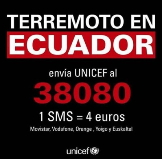 SMS 38080 UNICEFF
