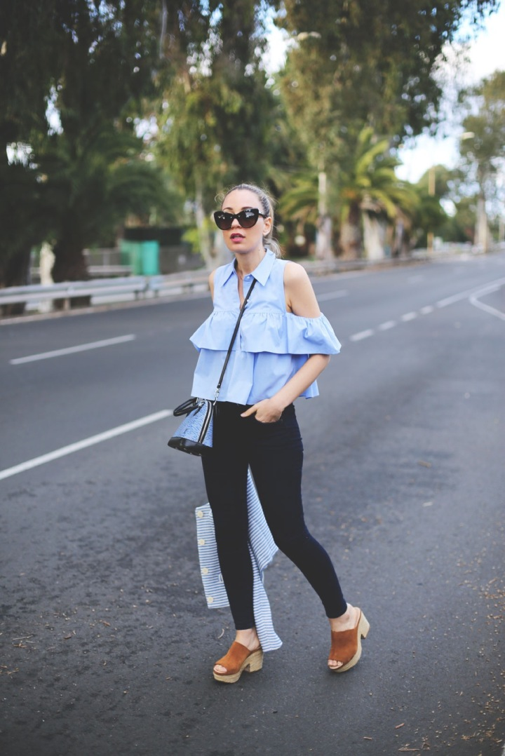blusa zara off shoulder