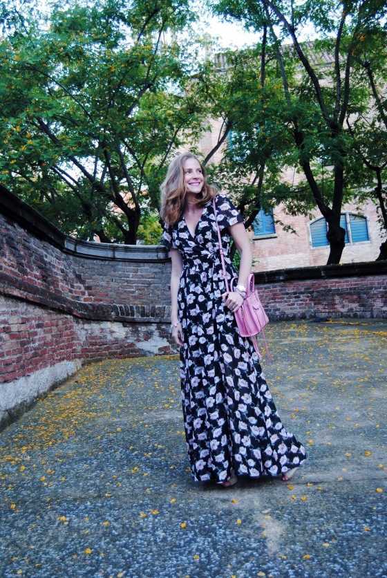 Colourvibes floral dress look