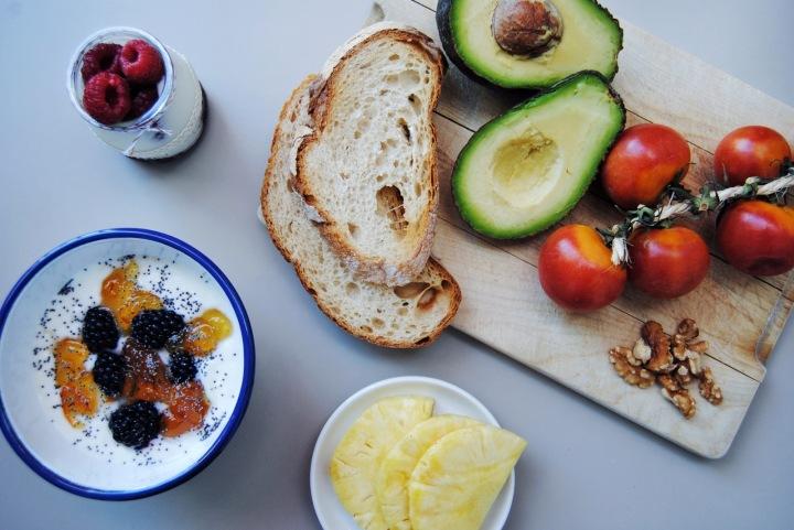 desayunos sanos con yogur