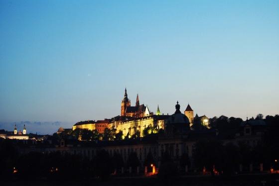 Vistas al castillo de Praga
