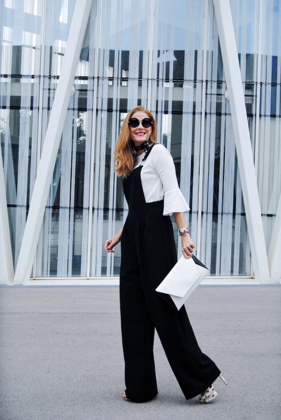 Black overall look