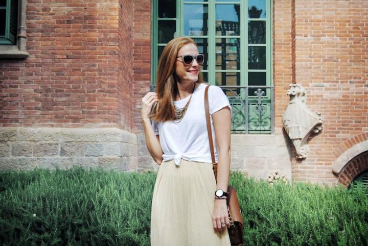 white shirt and tutu skirt