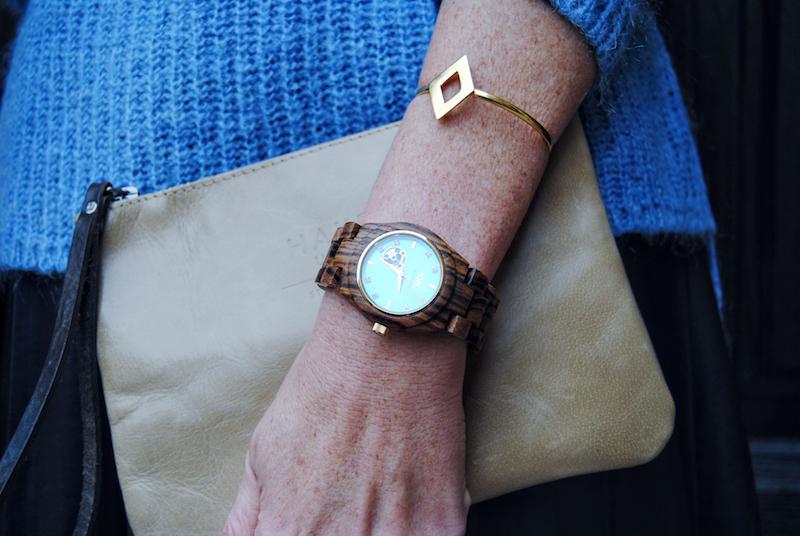 Pulsera Dlirio y Reloj de madera Jord