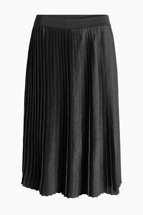 Falda plisada brillante