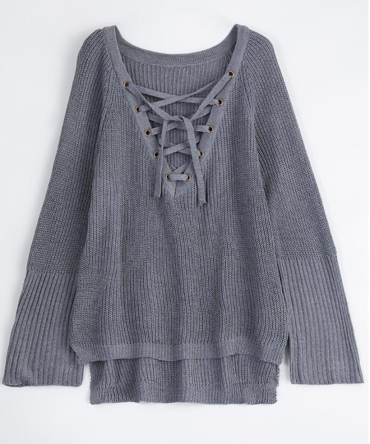 zaful grey sweater