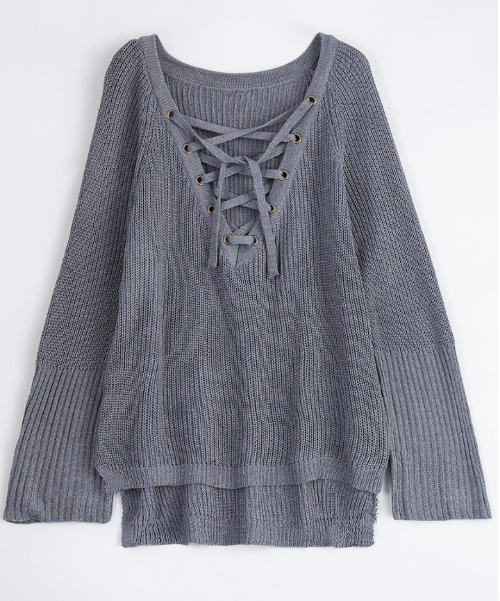 zaful grey sweater
