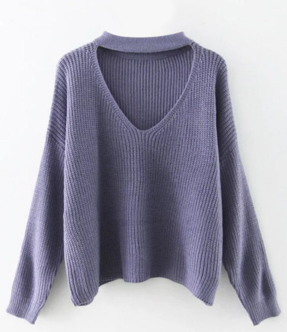 zaful purple sweater