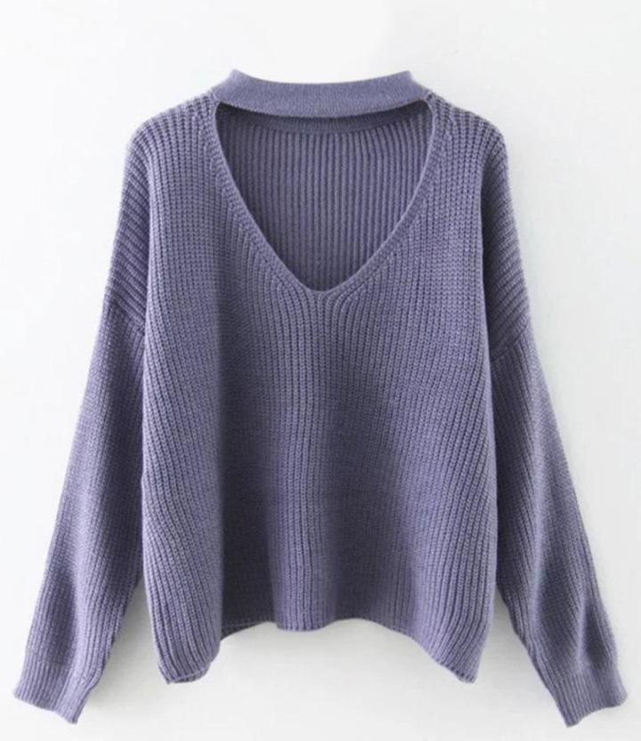 zaful purple sweater