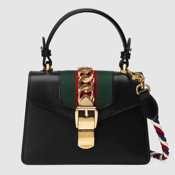 Sylvie leather mini bag Gucci