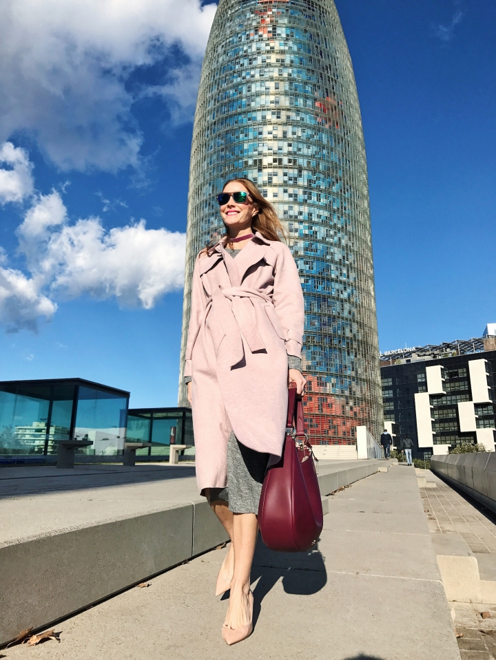 VIPme pink trench