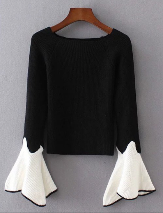 zaful black and white sweater
