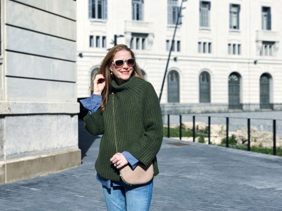 Zaful green sweater