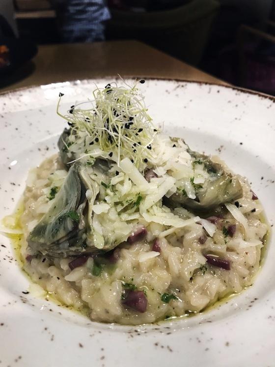 risotto-de-alcachofas-jamon-de-pato