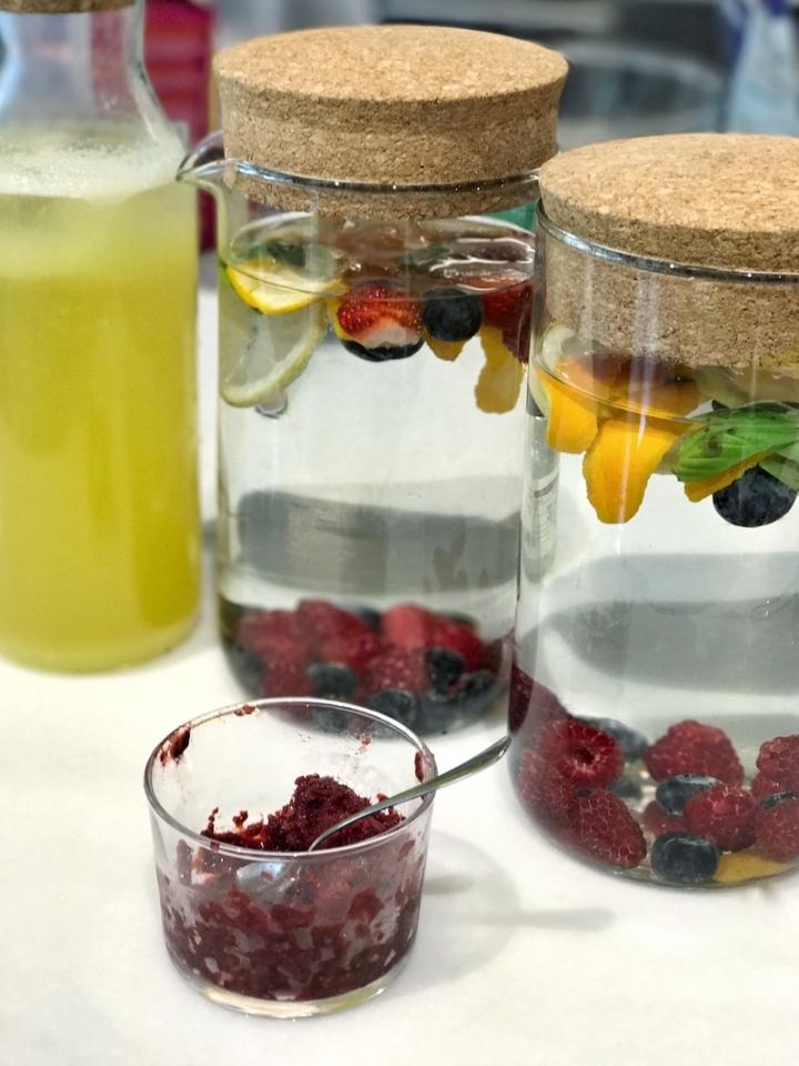 Bebidas infusionadas con frutas