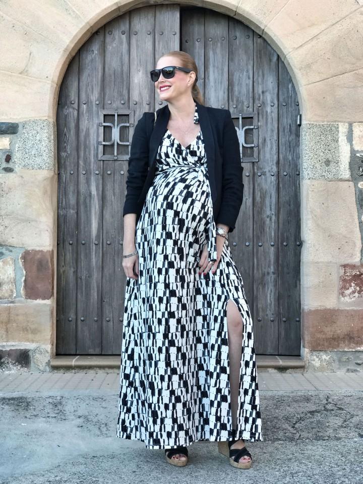 Seraphine-long-maternity dress