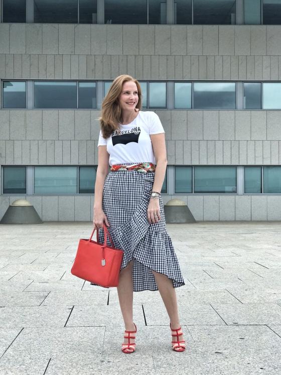 Gingham-skirt-and-orange-hints