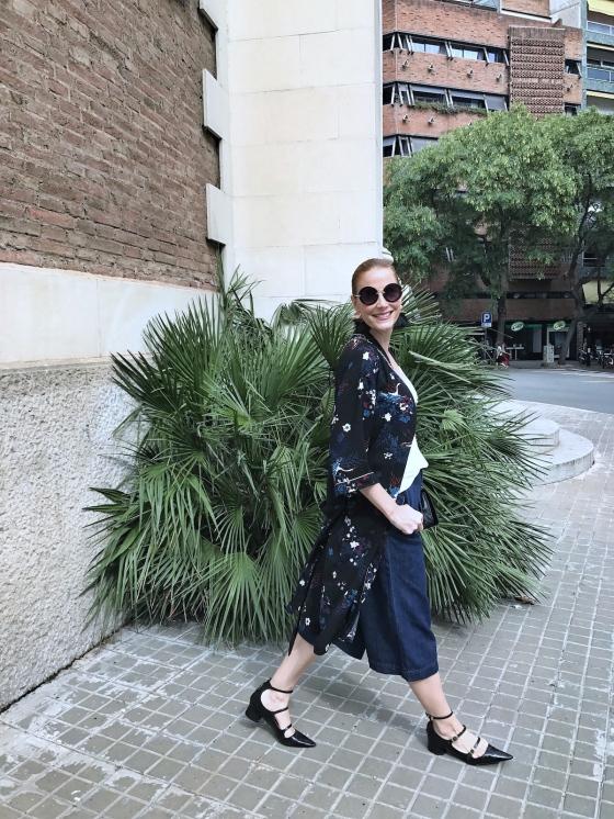 Kimono and culotte look