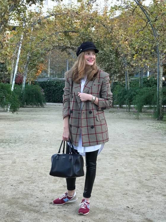checked-blazer-look
