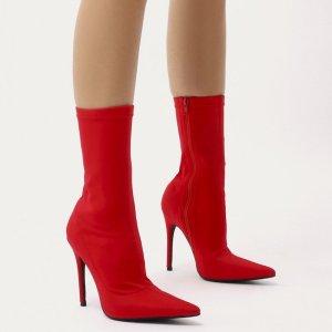 botines-calcetin-rojo