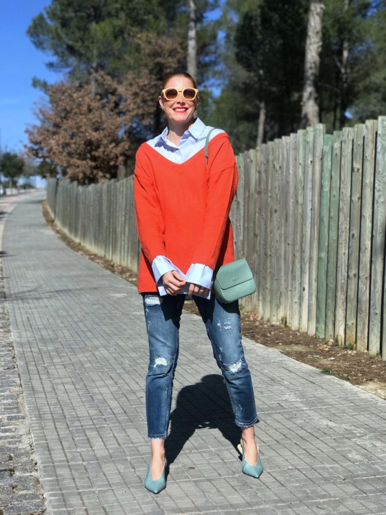 Denim-look-and-oversize-sweater