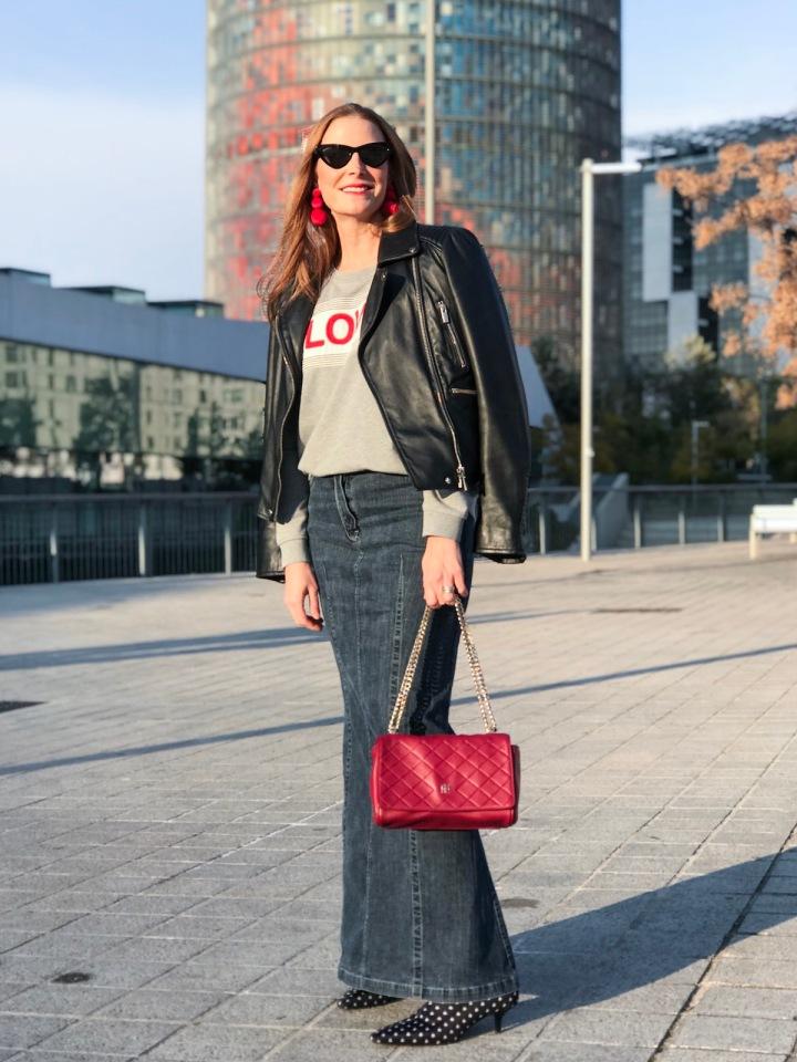 falda-larga-y-sudadera