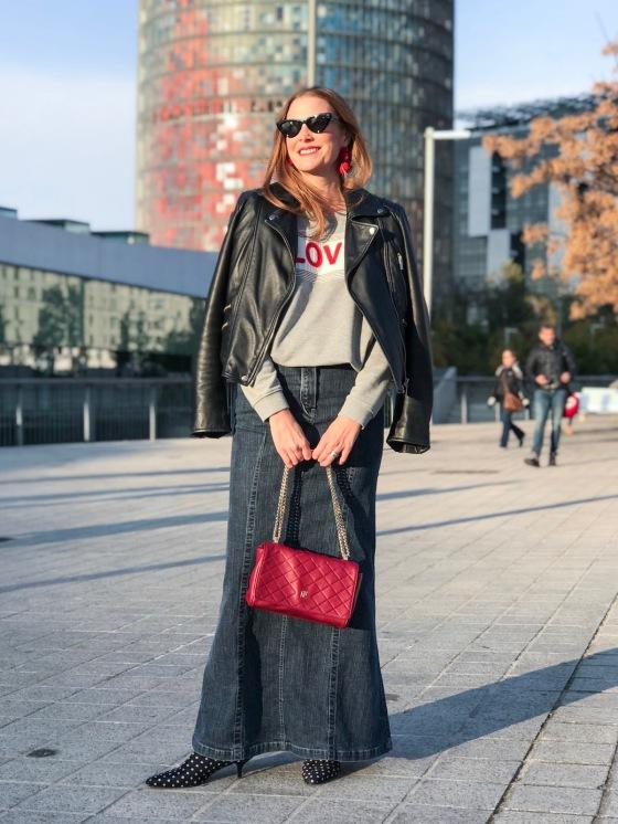 look-casual-con-falda-larga