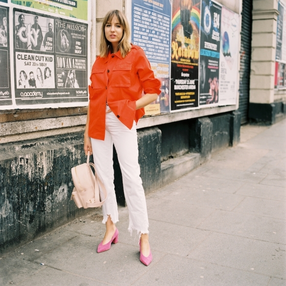 pink-and-red outfit
