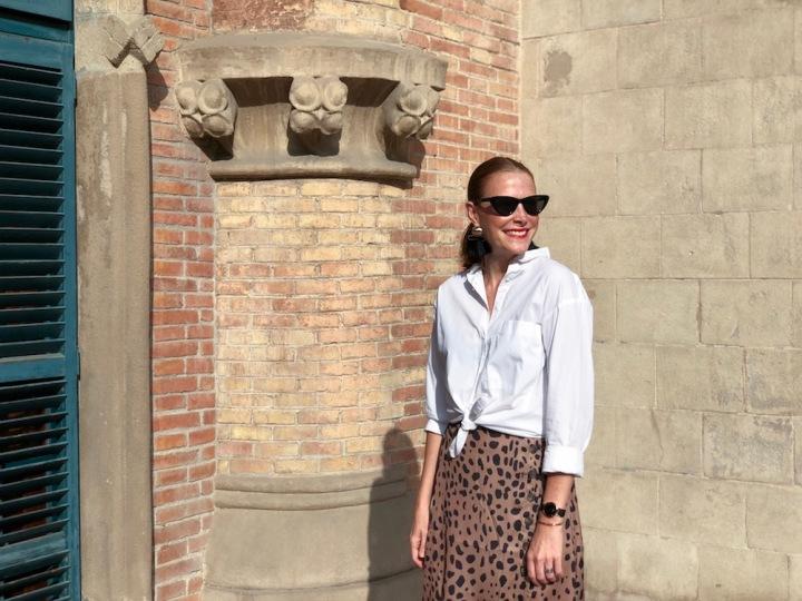 Leopard print skirt!