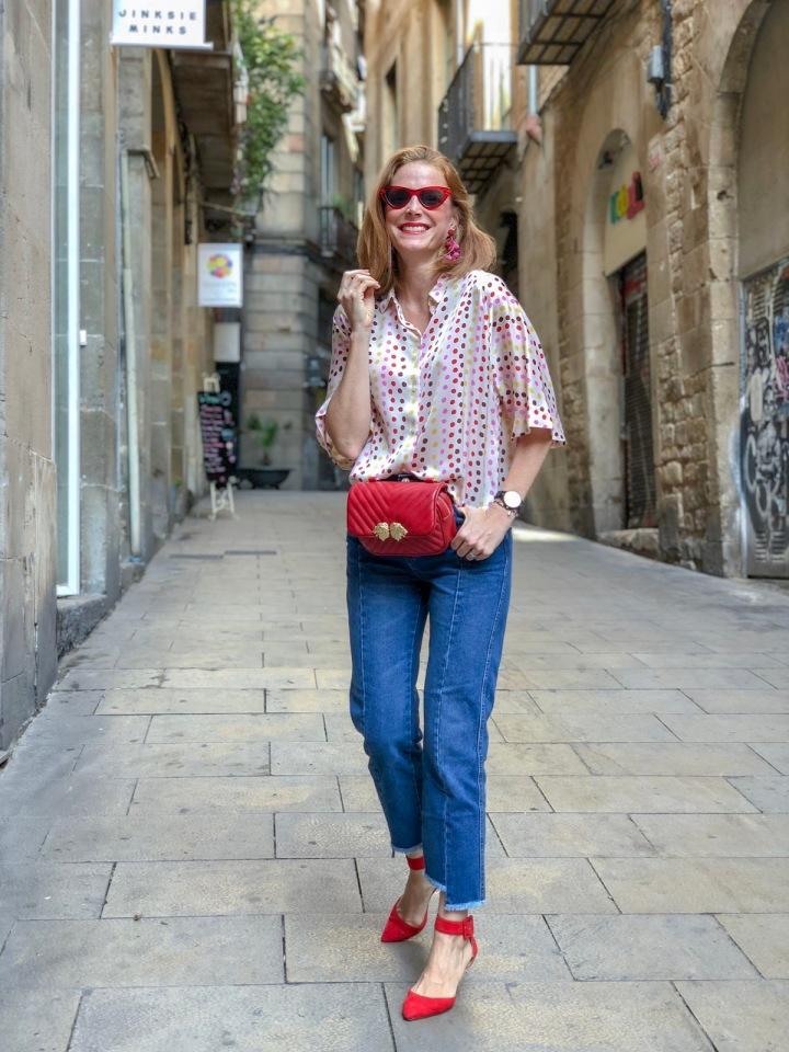 look-riñonera-roja